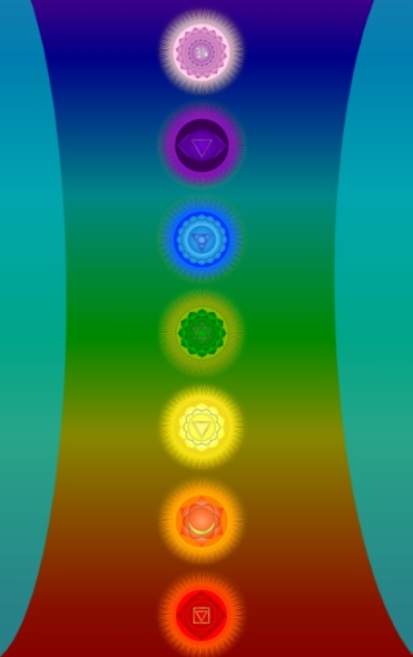 Chakras, green hearted