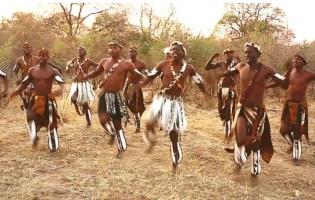African tribal dance
